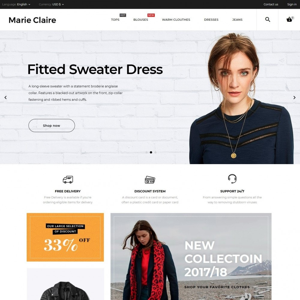 theme - Fashion & Shoes - Marie Claire Fashion Store - 2
