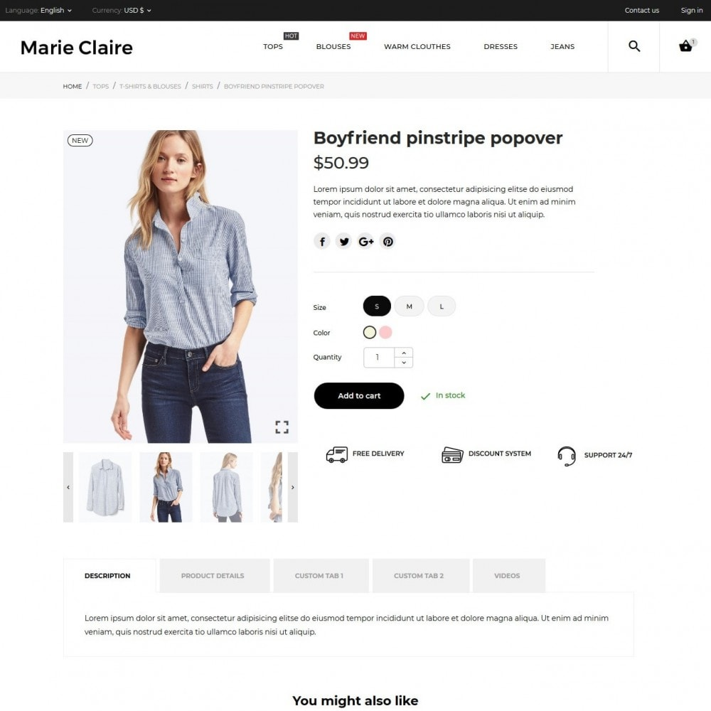 theme - Fashion & Shoes - Marie Claire Fashion Store - 7