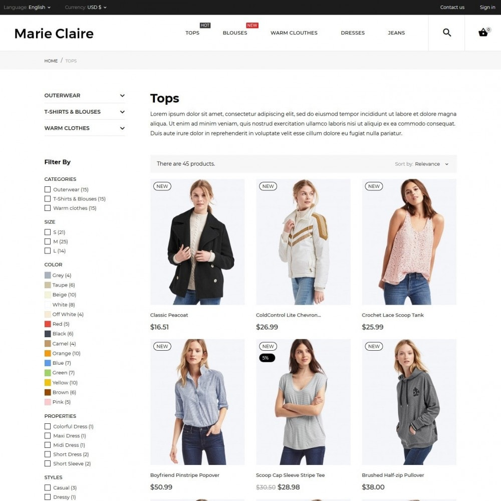 theme - Fashion & Shoes - Marie Claire Fashion Store - 8
