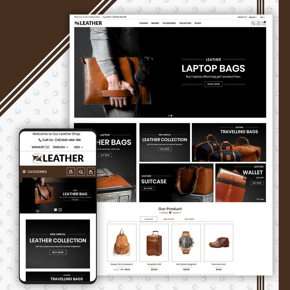 theme - Moda y Calzado - Leather Style Shop - 1