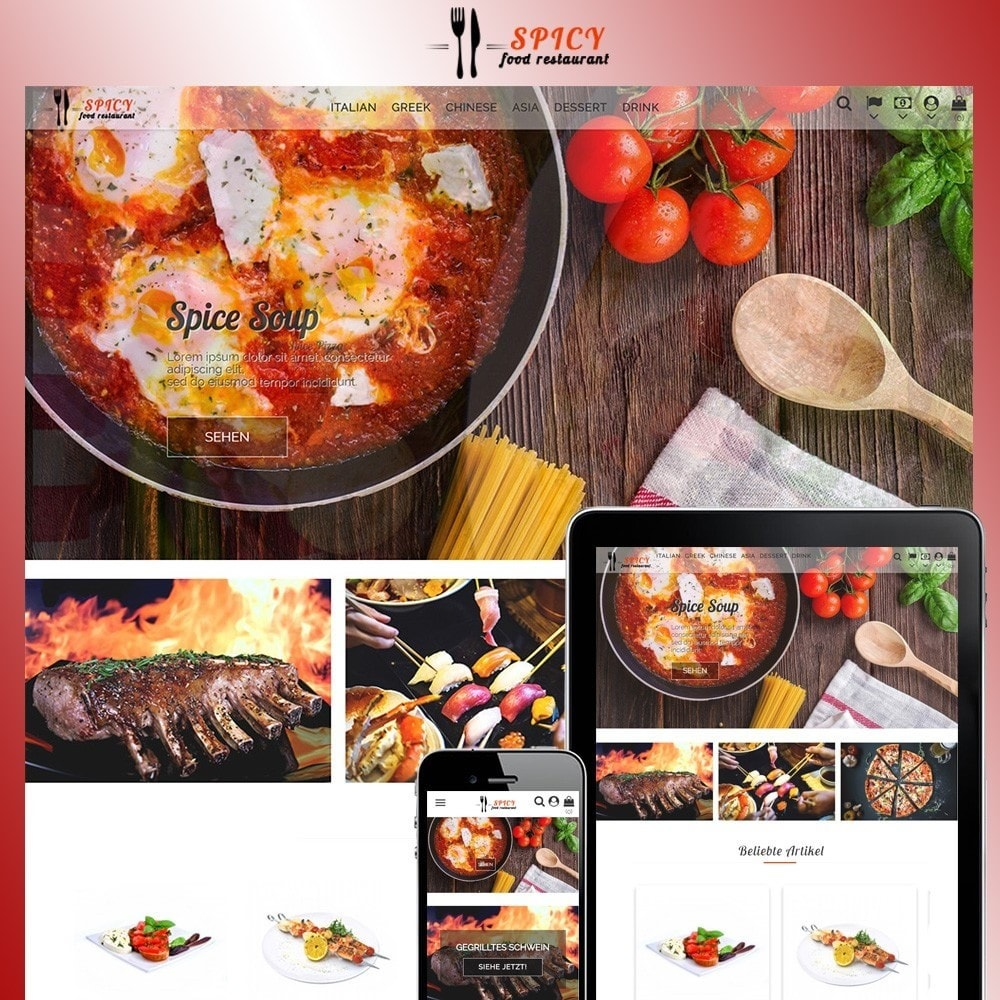 theme - Alimentation & Restauration - Spicy Restaurant - 1