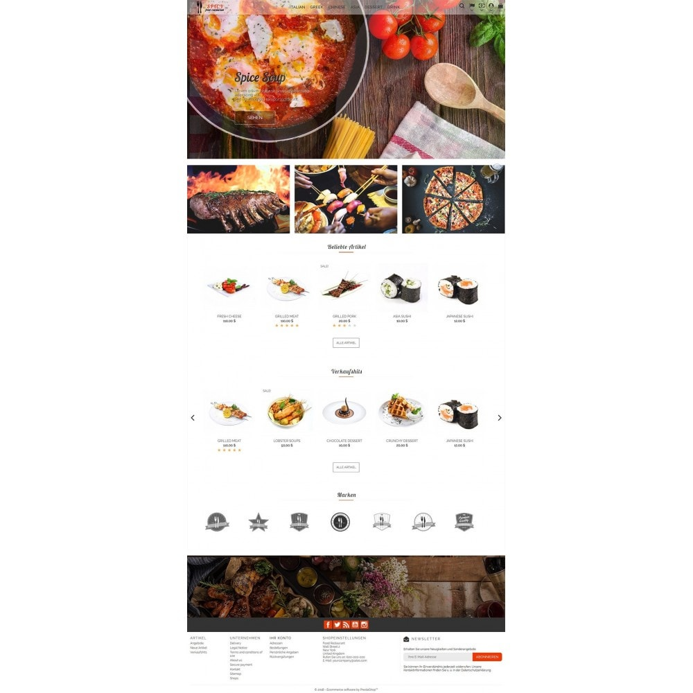 theme - Alimentation & Restauration - Spicy Restaurant - 2