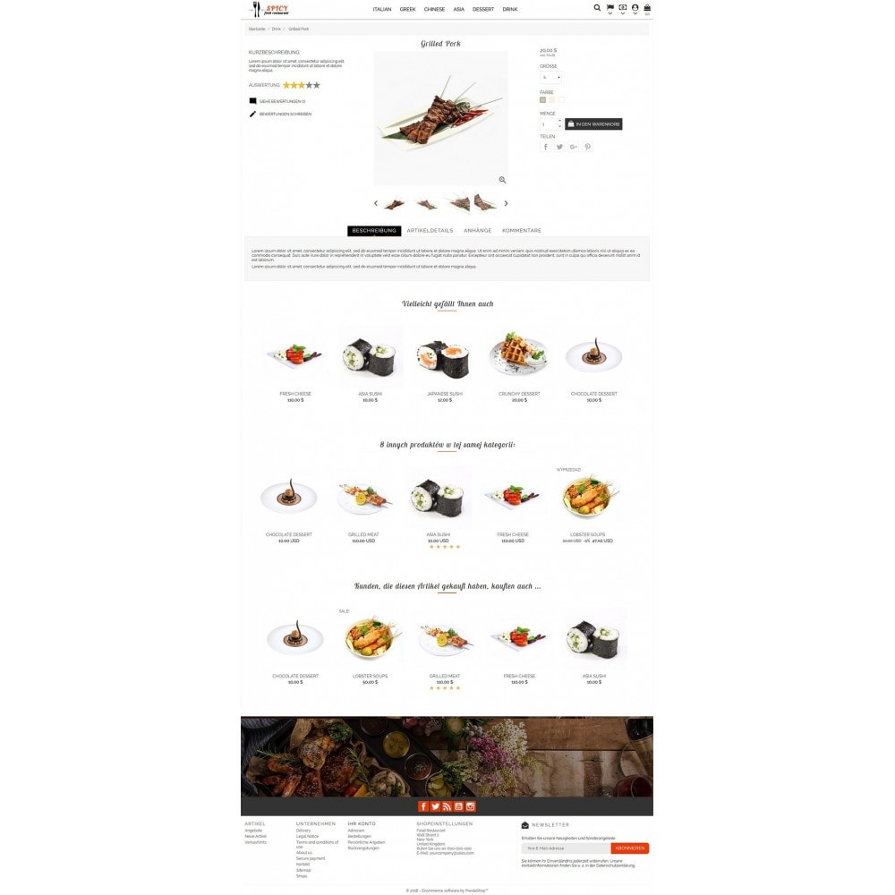 theme - Alimentation & Restauration - Spicy Restaurant - 3