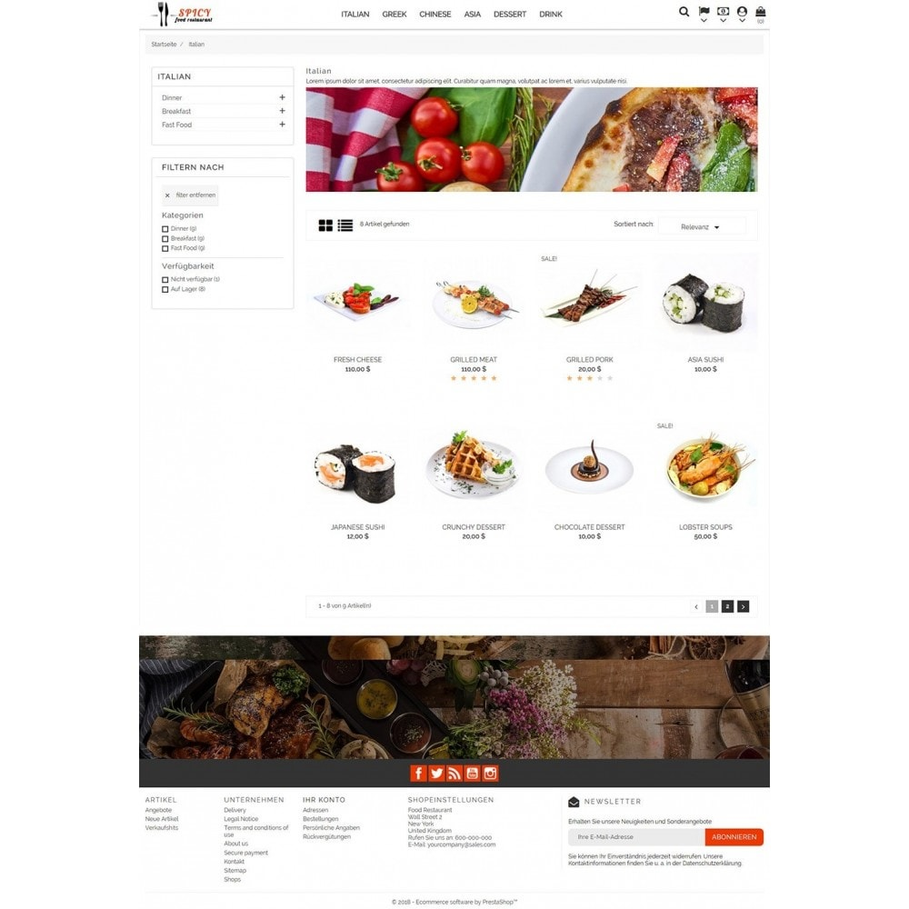 theme - Alimentation & Restauration - Spicy Restaurant - 4