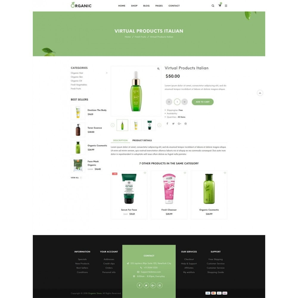 theme - Eten & Restaurant - Organic Shop - 10