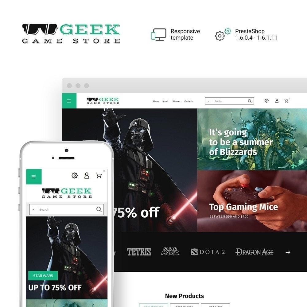 theme - Электроника и компьютеры - Geek - Game Store - 2