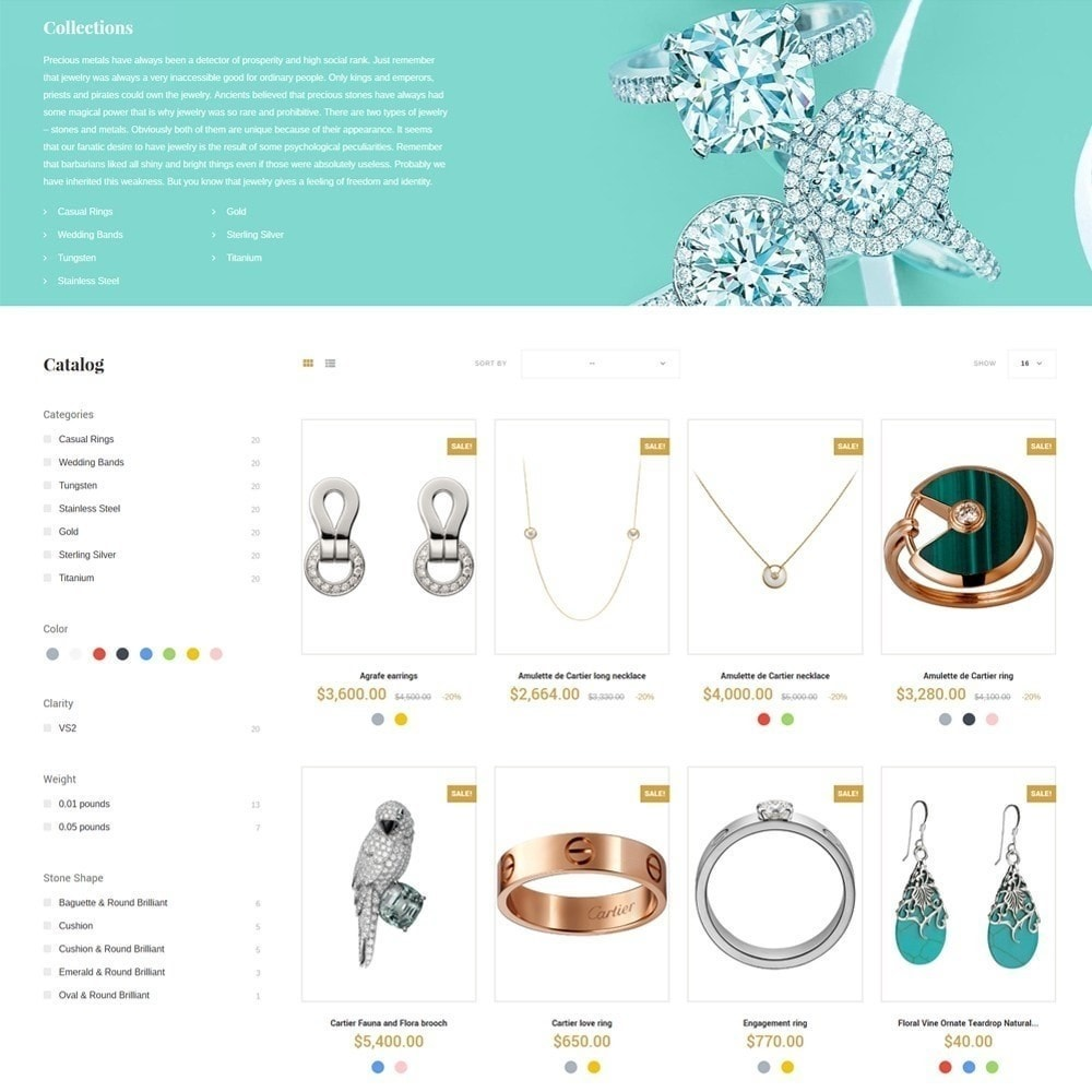 theme - Ювелирные изделия и Аксессуары - Eveprest - Jewelry Online Store - 6