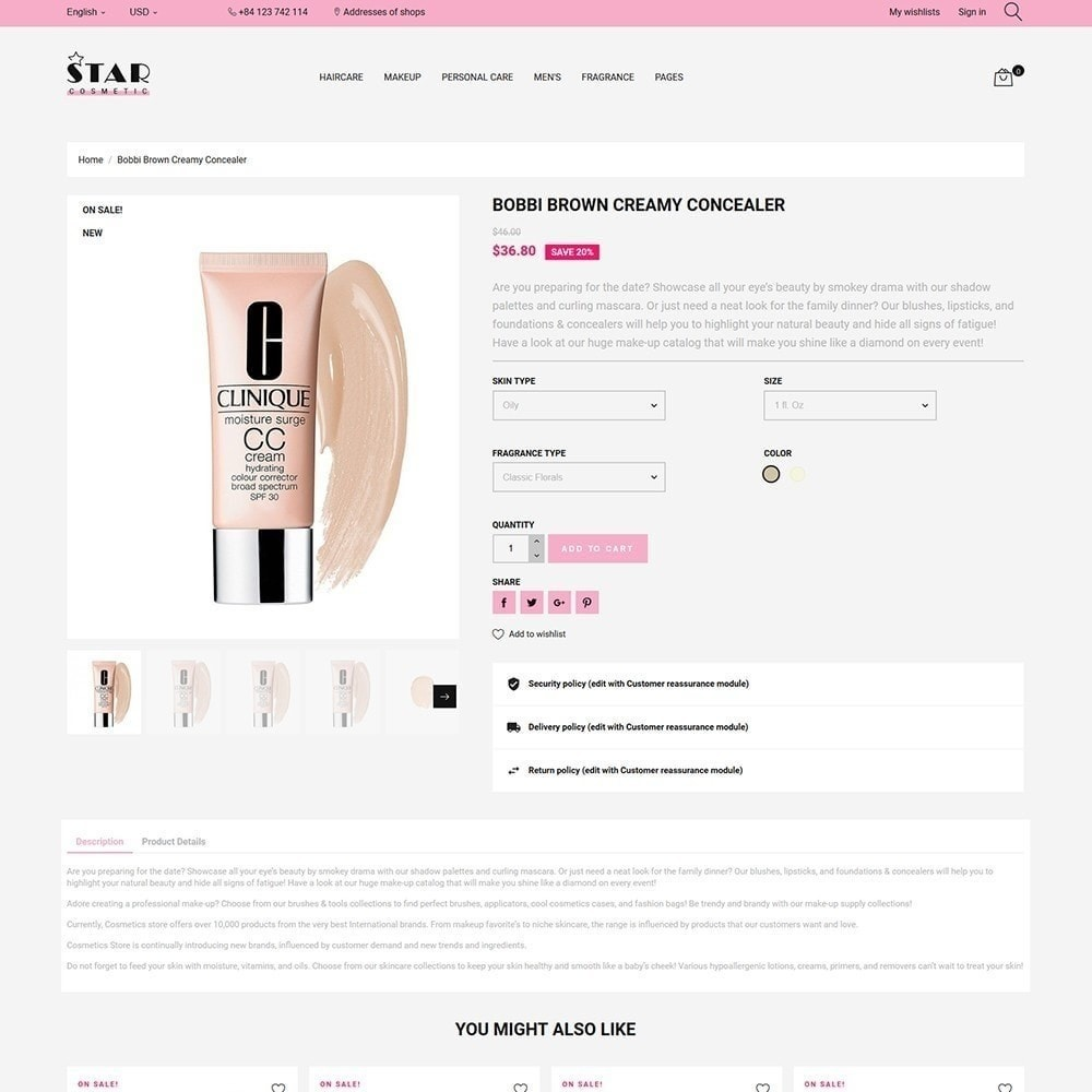theme - Santé & Beauté - Star Cosmetic - 4