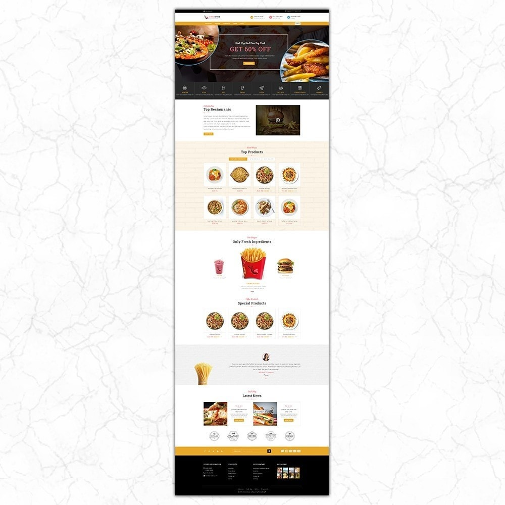 theme - Alimentation & Restauration - QuickFood - Online Food Store - 2