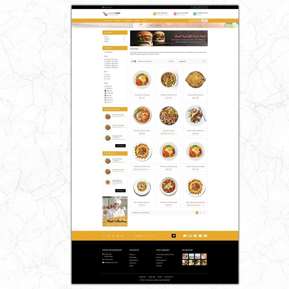theme - Alimentation & Restauration - QuickFood - Online Food Store - 3