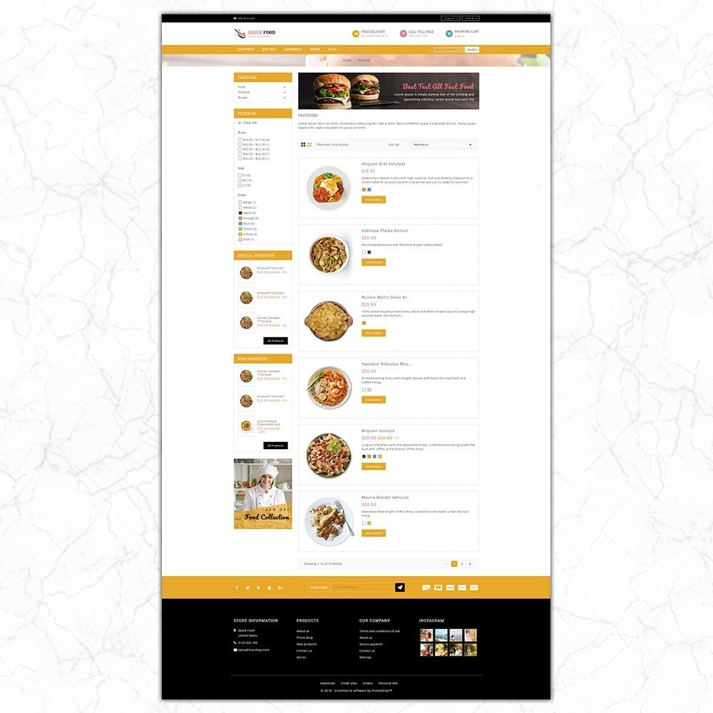 theme - Alimentation & Restauration - QuickFood - Online Food Store - 4
