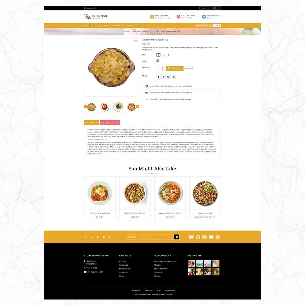 theme - Alimentation & Restauration - QuickFood - Online Food Store - 5