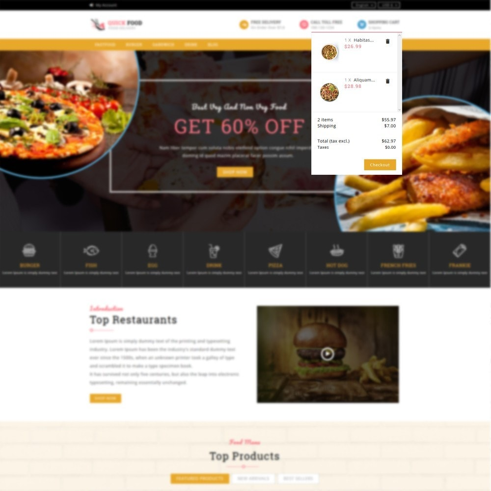 theme - Alimentation & Restauration - QuickFood - Online Food Store - 6