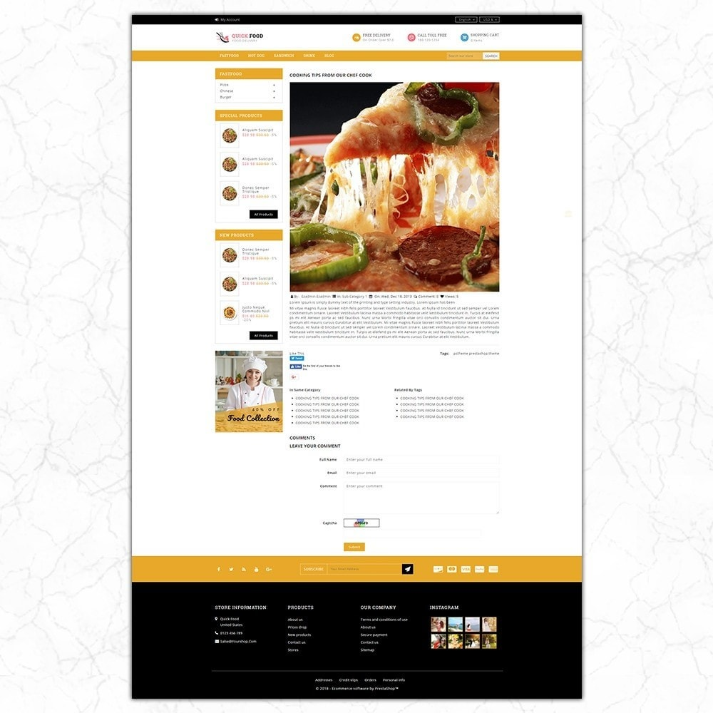 theme - Alimentation & Restauration - QuickFood - Online Food Store - 8
