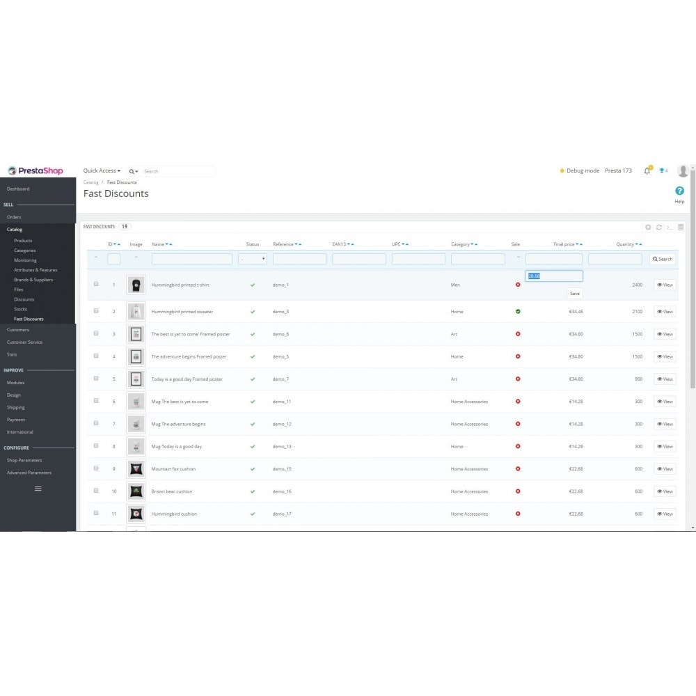 module - Быстрое & массовое редактирование - FastDiscounts - 2