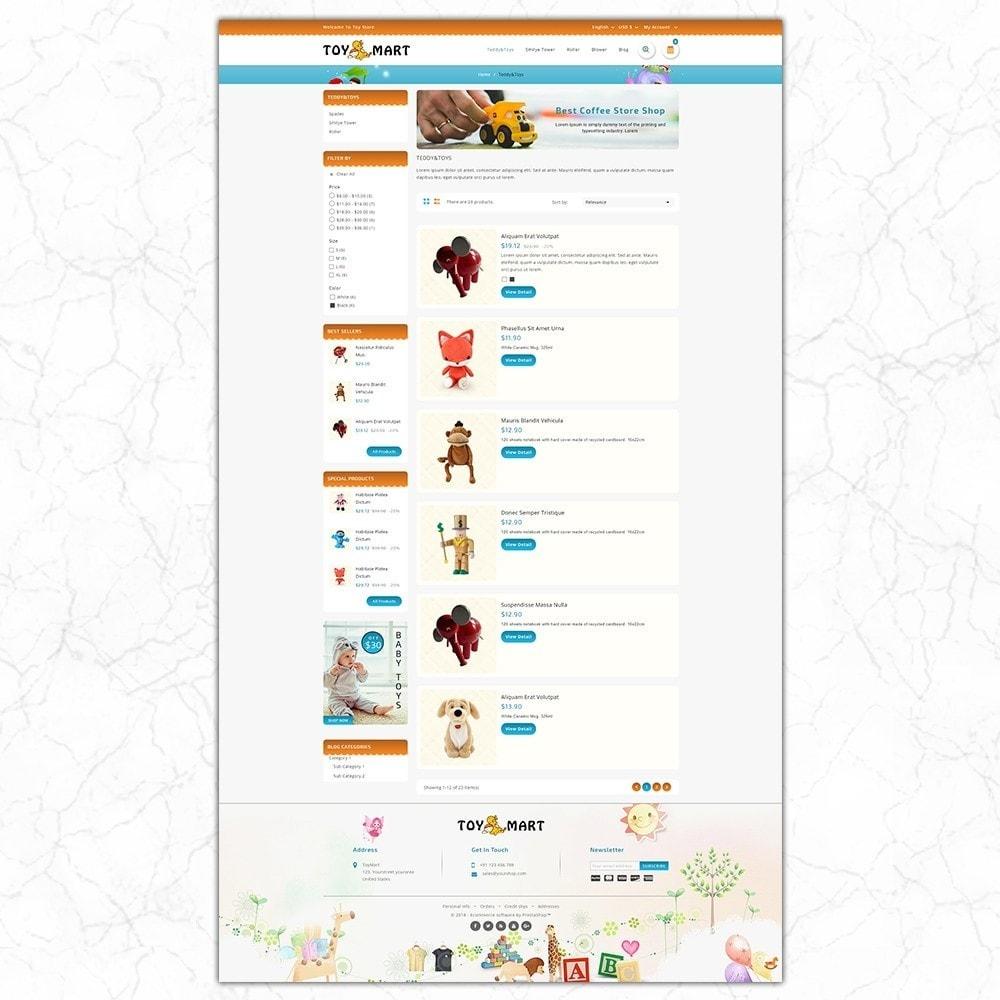 theme - Enfants & Jouets - ToyMart - Toy Store - 4
