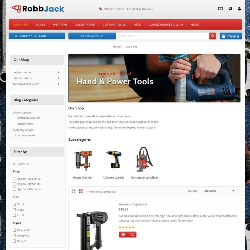 theme - Coches y Motos - Robbjack Tool Store - 4
