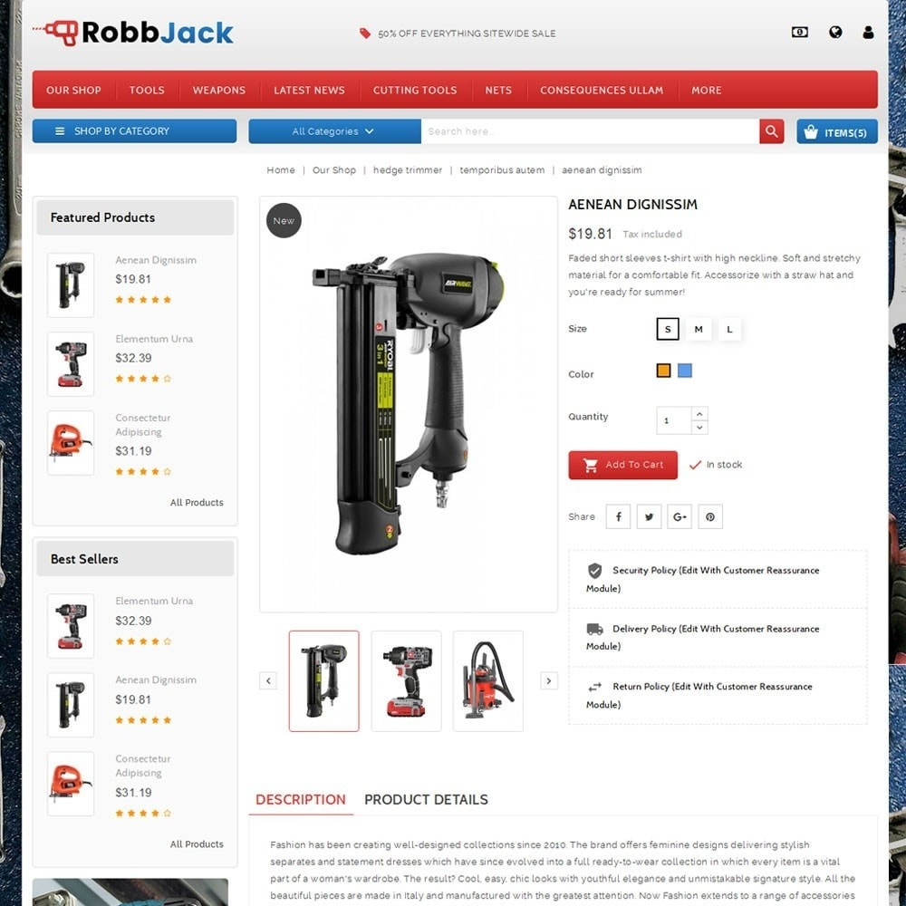 theme - Automotive & Cars - Robbjack Tool Store - 5