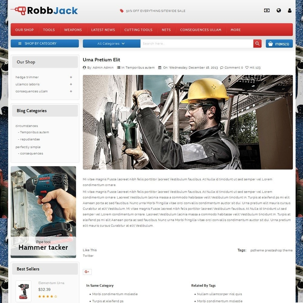 theme - Automotive & Cars - Robbjack Tool Store - 6