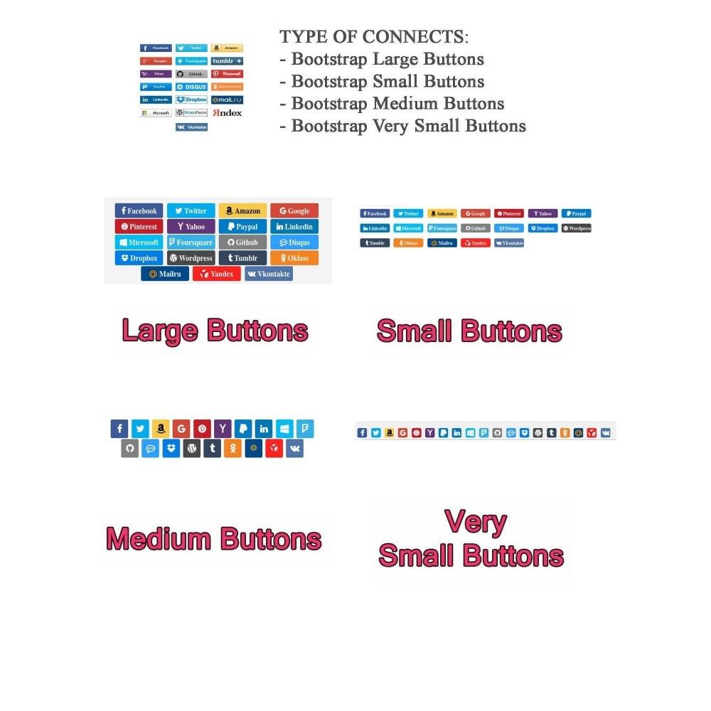 module - Botones de inicio de Sesión/Conexión - Social Logins + Statistics (19 in 1) - 15