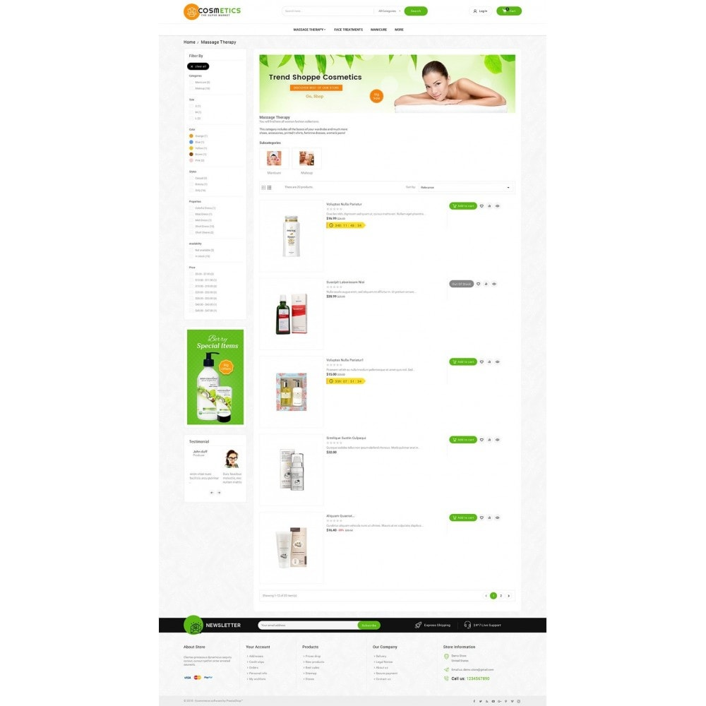 theme - Santé & Beauté - Mega Shoppe Bio Cosmetics - 4