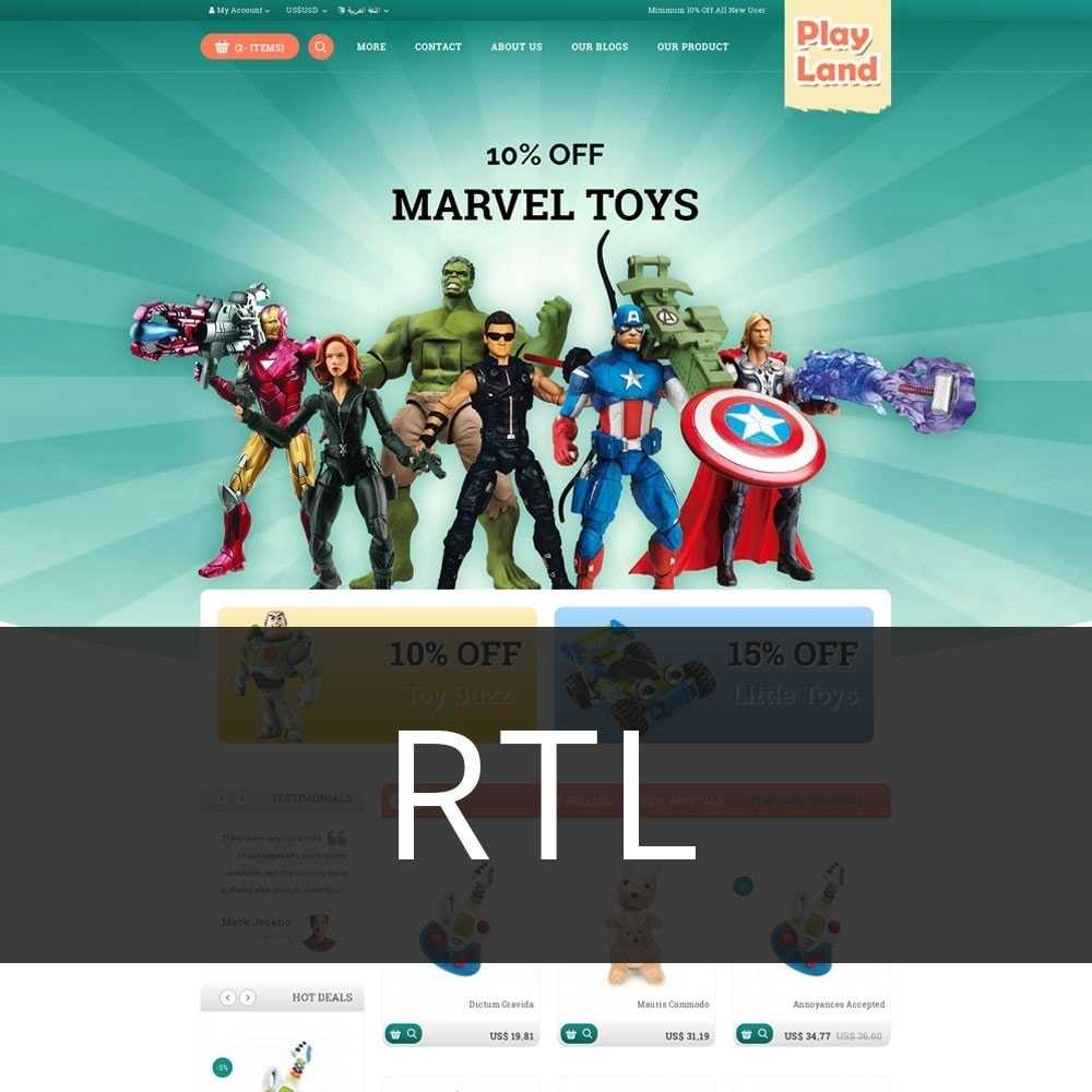 theme - Niños y Juguetes - Playland - Kids Shop - 3