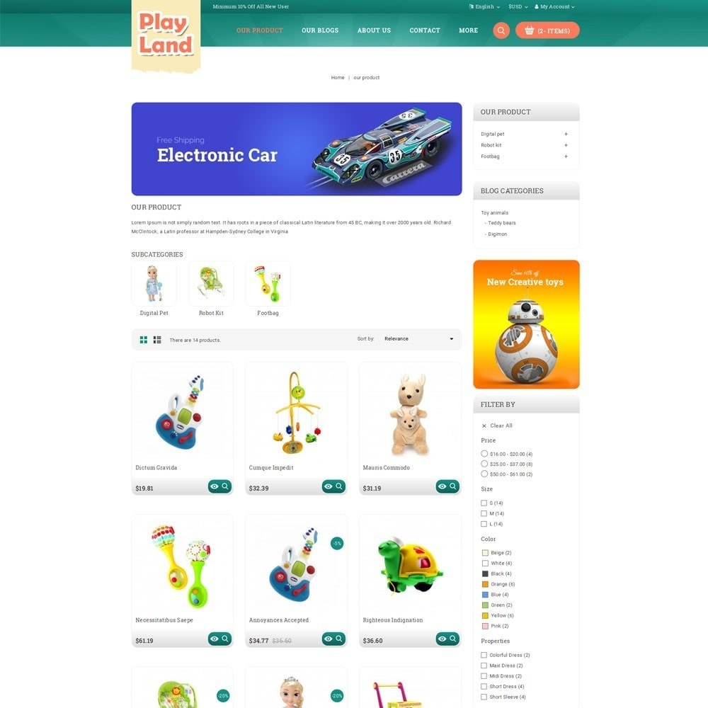 theme - Niños y Juguetes - Playland - Kids Shop - 4