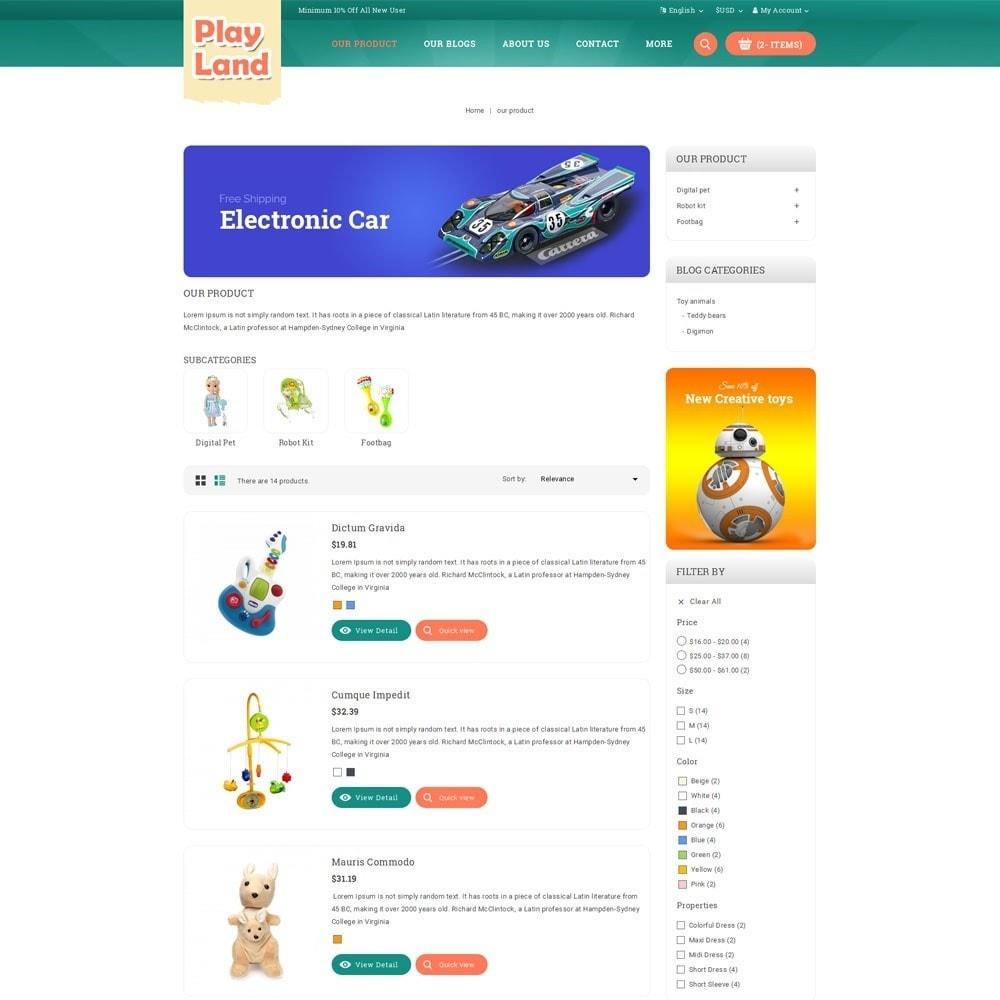 theme - Niños y Juguetes - Playland - Kids Shop - 5