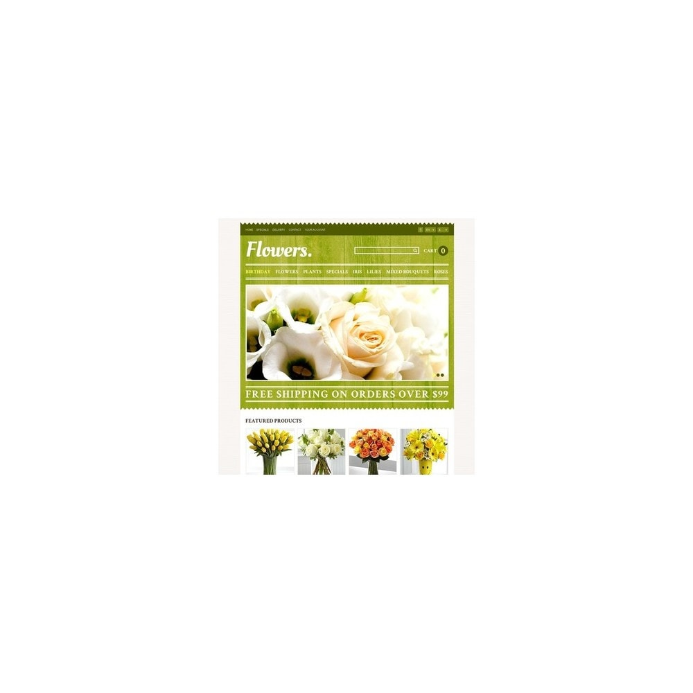 theme - Presentes, Flores & Comemorações - Responsive Flowers Store - 2