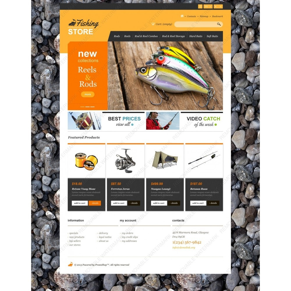 theme - Deportes, Actividades y Viajes - Responsive Fishing Shop - 6