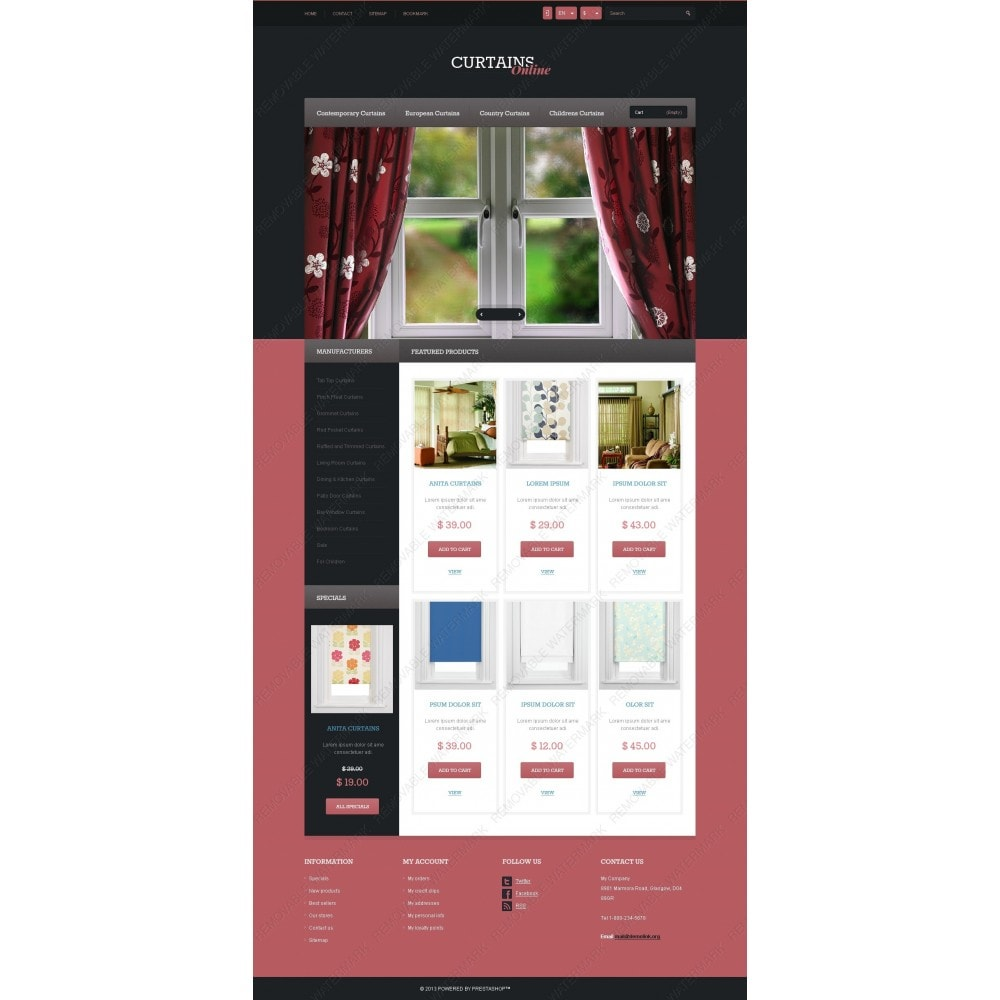 theme - Искусство и Культура - Responsive Curtains Store - 3