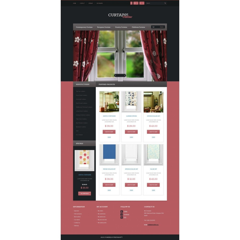 theme - Искусство и Культура - Responsive Curtains Store - 5