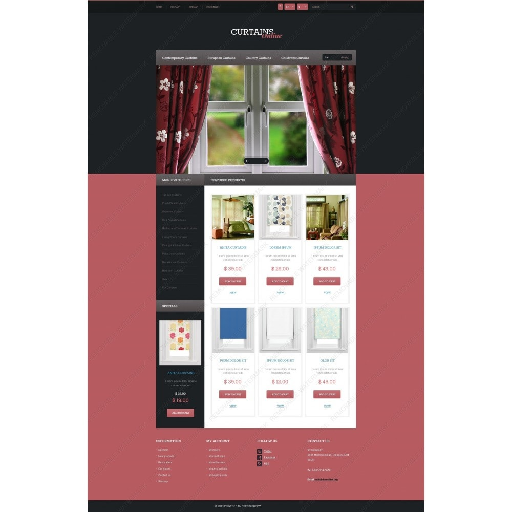 theme - Искусство и Культура - Responsive Curtains Store - 6