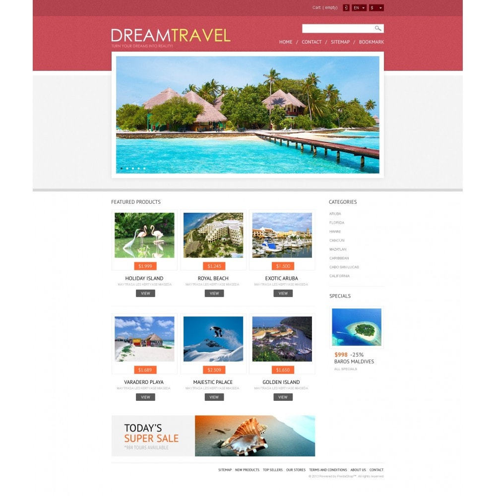 theme - Sports, Activities & Travel - Dream Travel Store - 4