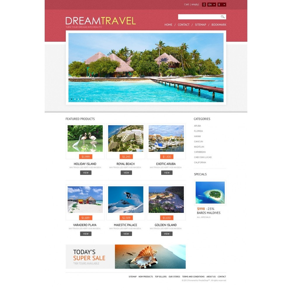 theme - Sports, Activities & Travel - Dream Travel Store - 5