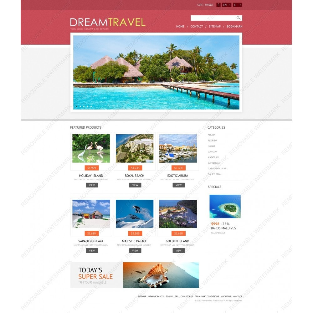 theme - Sports, Activities & Travel - Dream Travel Store - 6
