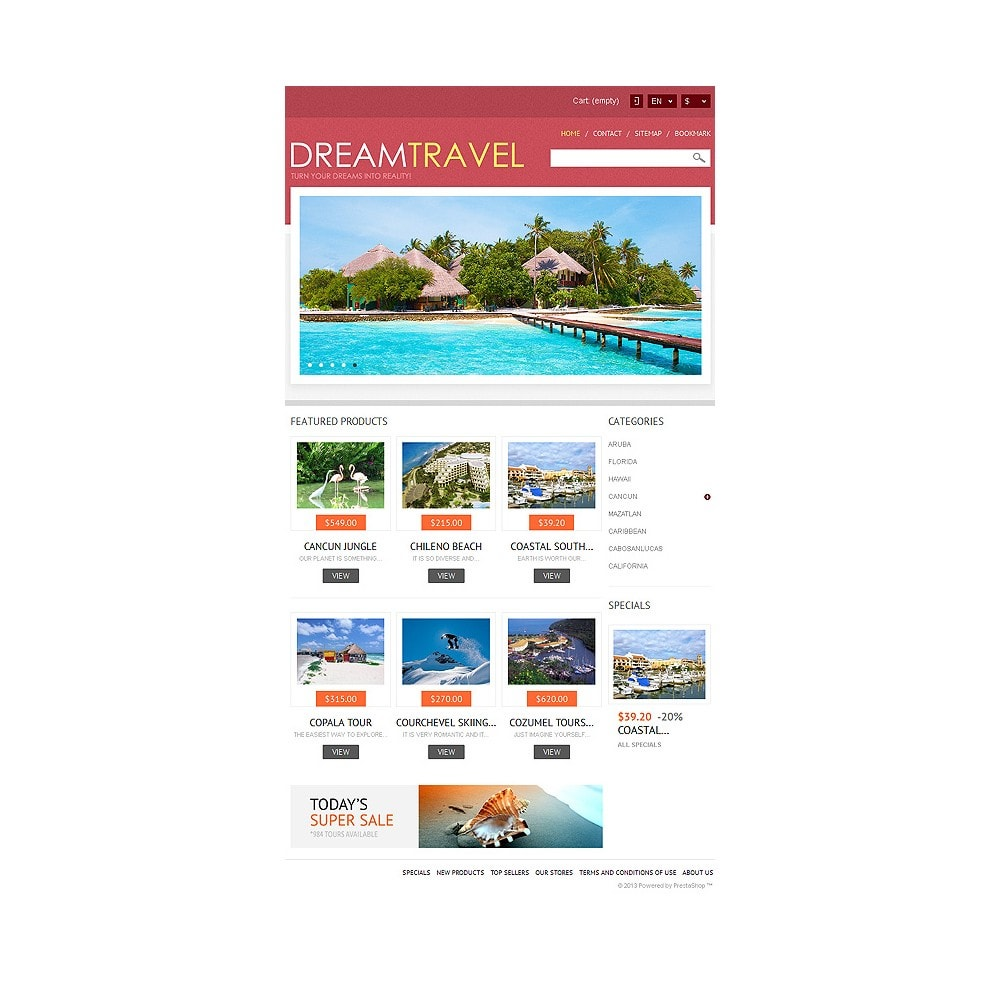 theme - Sports, Activities & Travel - Dream Travel Store - 8