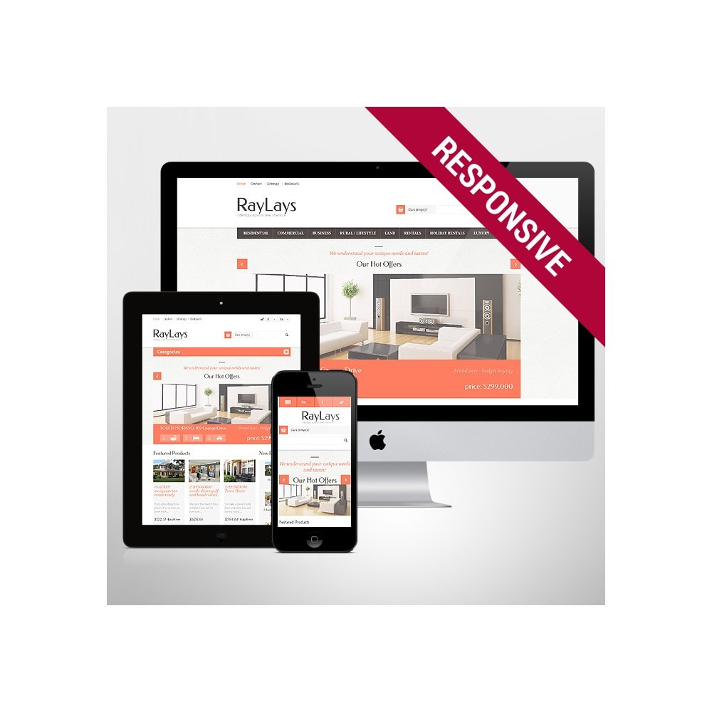 theme - Thèmes PrestaShop - Magasin immobilier adaptatif - 1