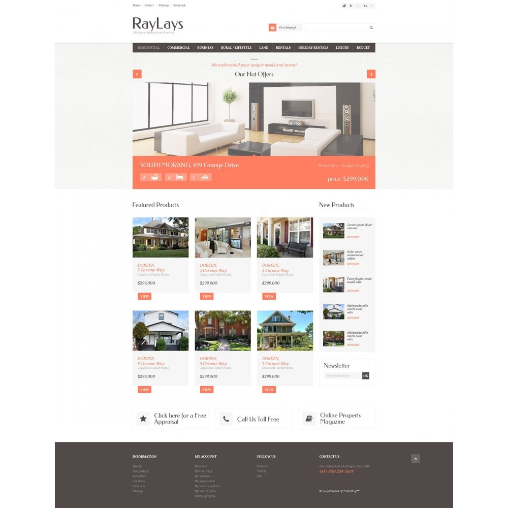 theme - Thèmes PrestaShop - Magasin immobilier adaptatif - 4