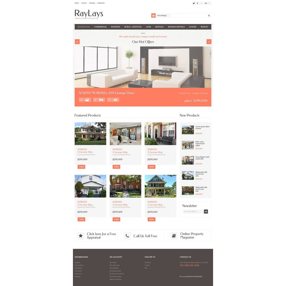 theme - Thèmes PrestaShop - Magasin immobilier adaptatif - 5