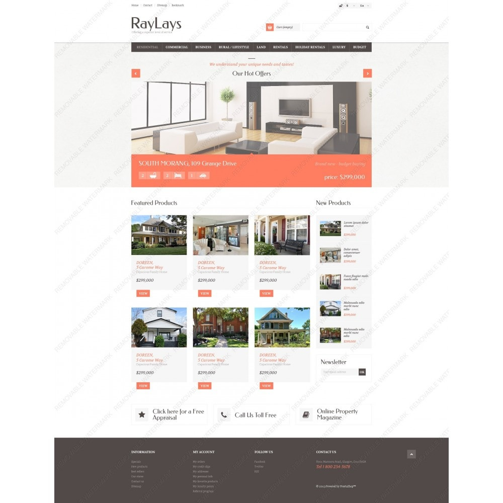 theme - Thèmes PrestaShop - Magasin immobilier adaptatif - 6