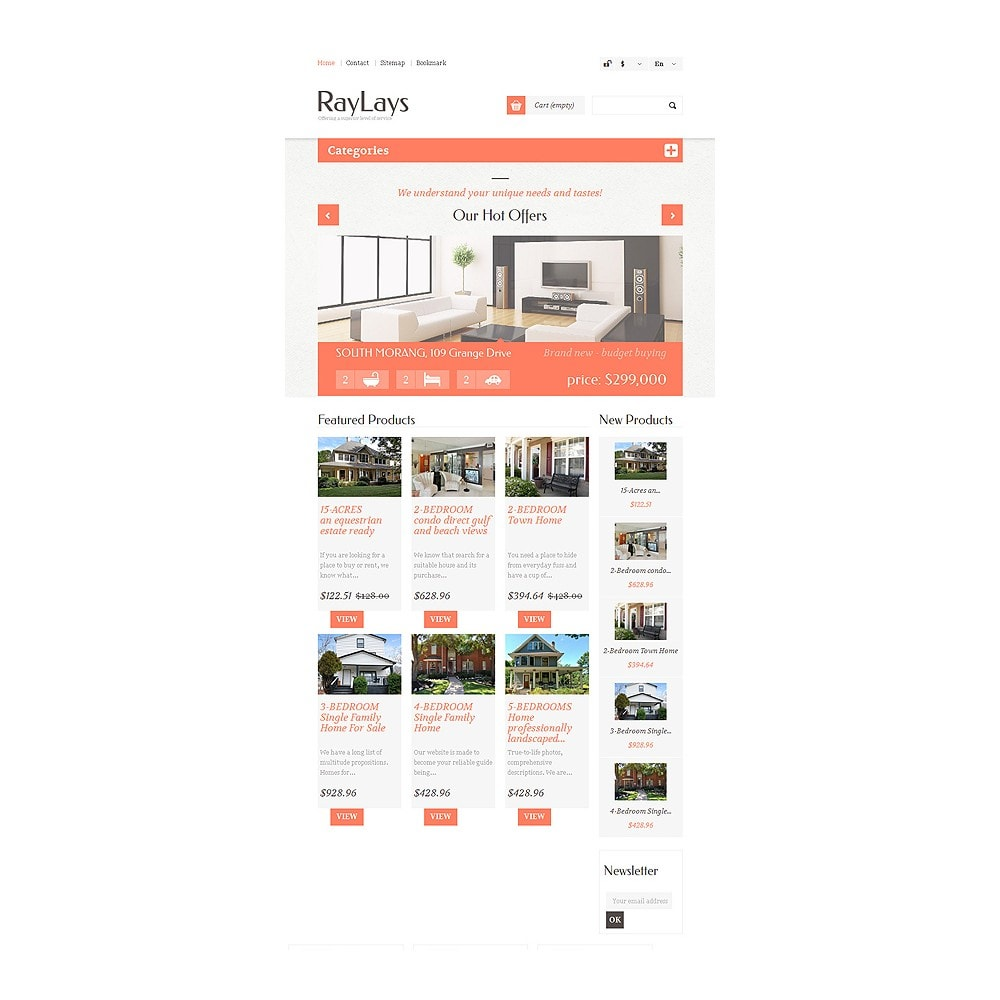 theme - Thèmes PrestaShop - Magasin immobilier adaptatif - 8