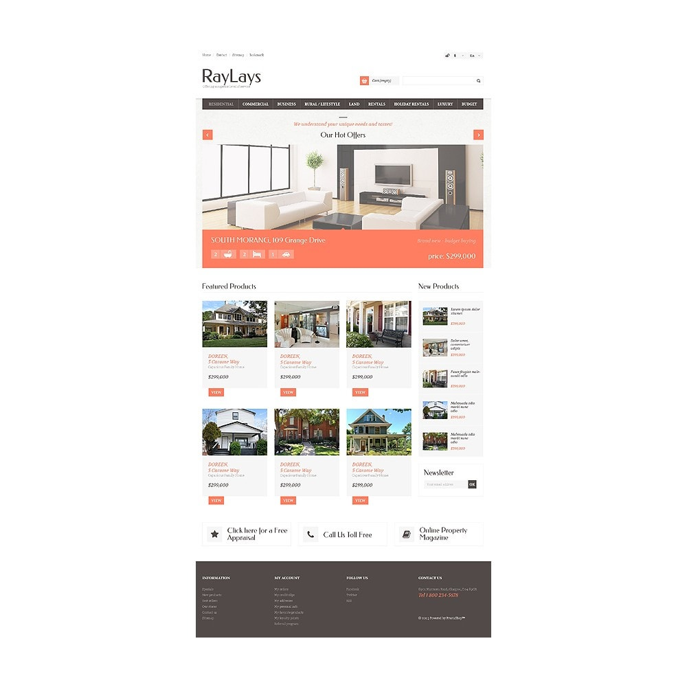 theme - Thèmes PrestaShop - Magasin immobilier adaptatif - 11