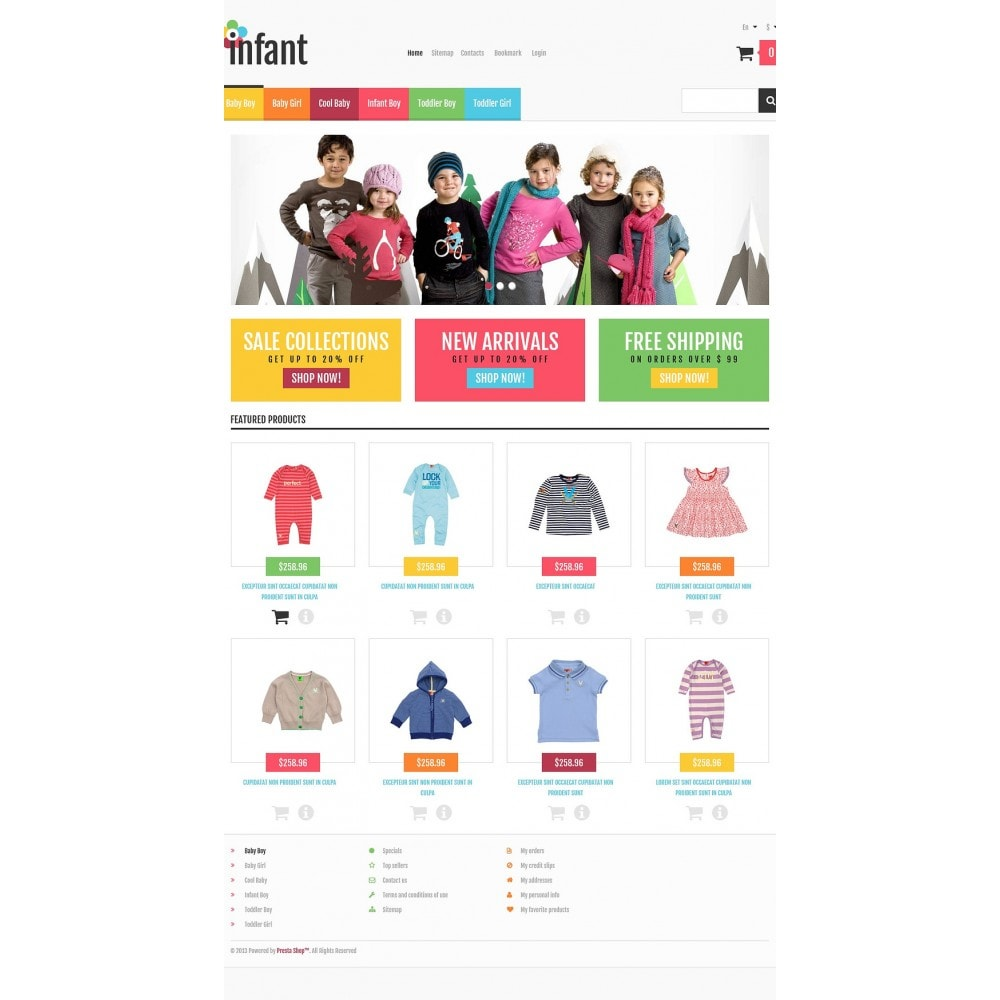 theme - Mode & Chaussures - Responsive Infant Shop - 2