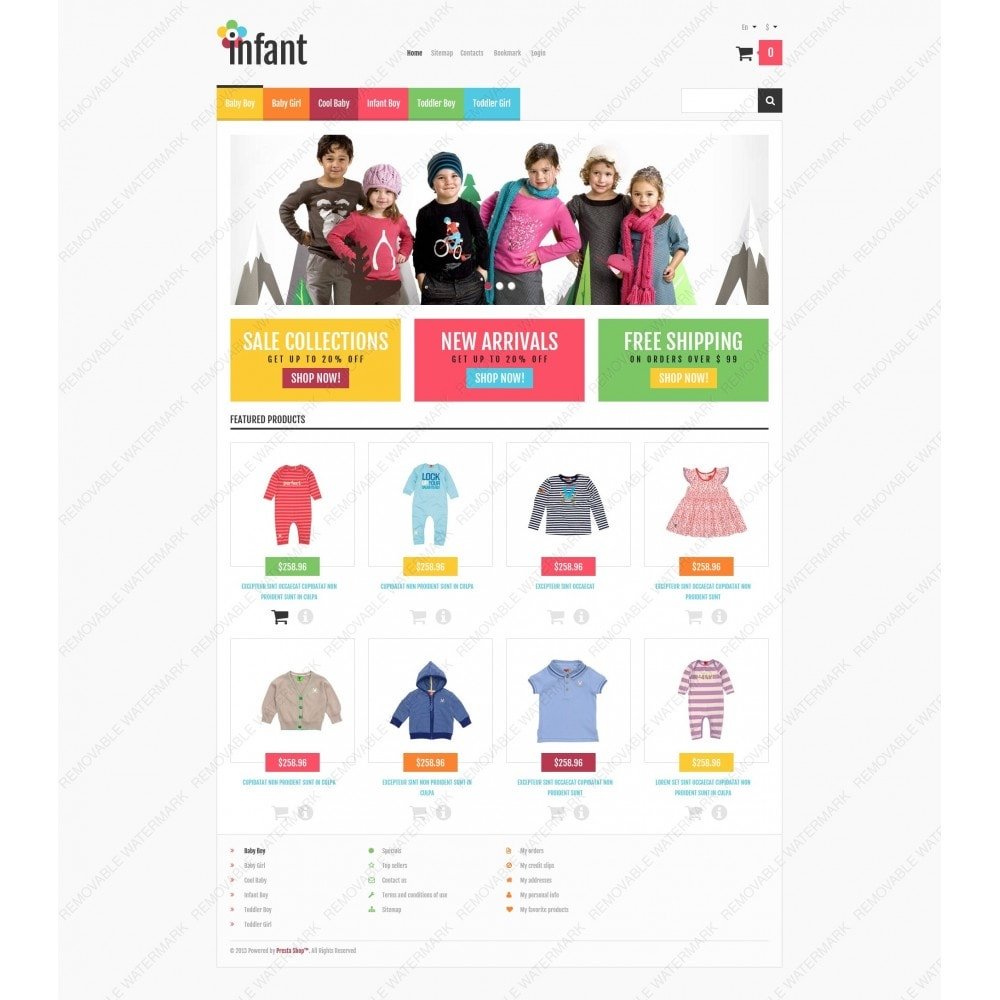 theme - Mode & Chaussures - Responsive Infant Shop - 6