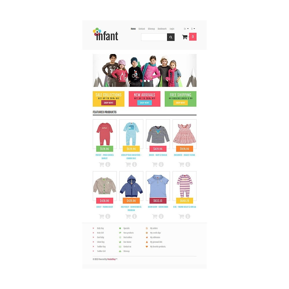 theme - Mode & Chaussures - Responsive Infant Shop - 8
