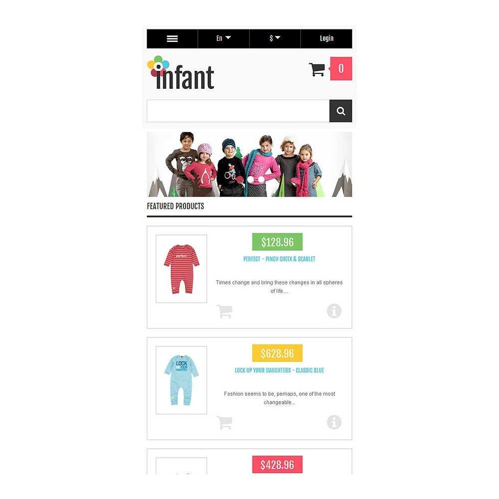 theme - Mode & Chaussures - Responsive Infant Shop - 9
