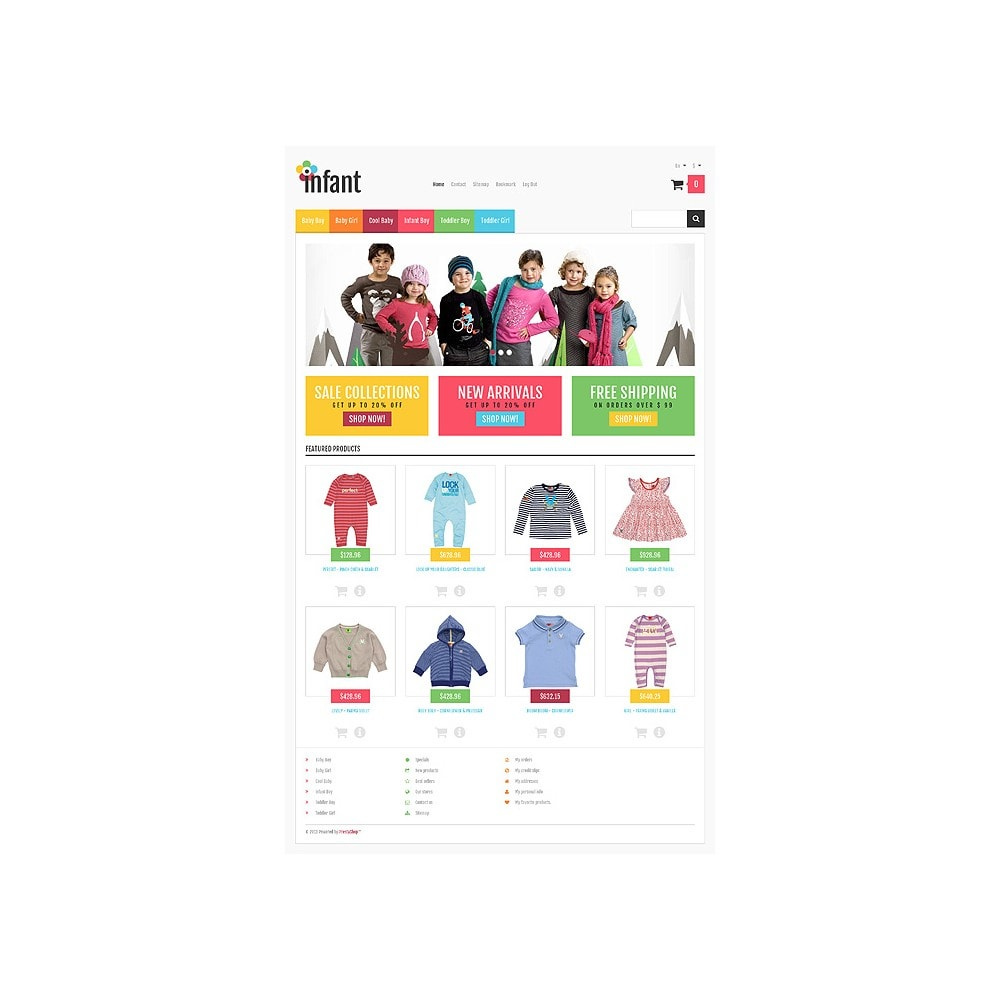 theme - Mode & Chaussures - Responsive Infant Shop - 11
