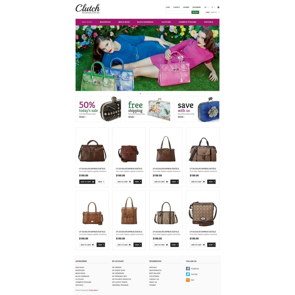 theme - Мода и обувь - Responsive Bags Store - 2