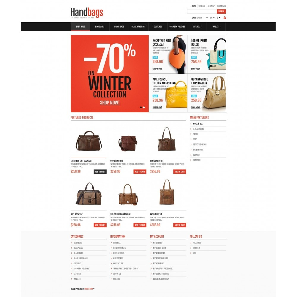 theme - Moda & Calzature - Responsive Handbags Store - 5